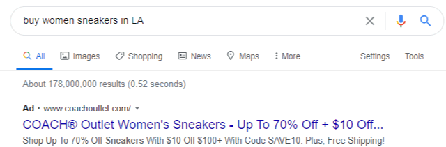 Inserting key phrases in google search ads