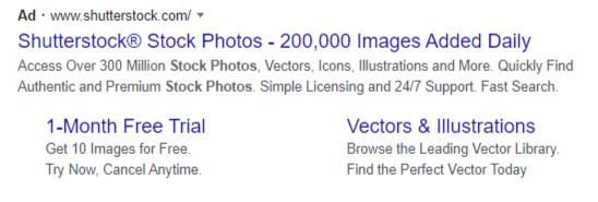 How do google search ads look like in search results